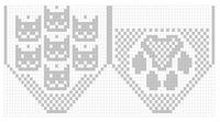 Trendy Cats Crafts For Kids Knitting Patterns 34 Ideas Filet Crochet Charts, Crochet Cross, Crochet Diagram, Knitting Charts, Knitting Stitches, Kids Knitting Patterns, Knitting For Kids, Baby Knitting, Knitted Cat