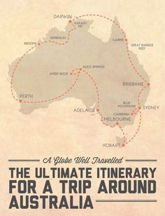 The ultimate itinerary for a trip around - visits every capital city and all 8 states and territories, and includes 4 road trips and 6 of the best national parks / natural wonders Australia has to offer! Click through for the detailed itinerary. Brisbane, Sydney, Perth, Places To Travel, Travel Destinations, Travel Tips, Budget Travel, Sas Travel, Travel Oz