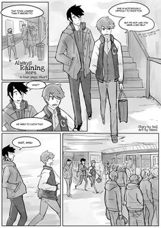 [always raining here: webcomic by hazel and bell] extra: skytrain page 1