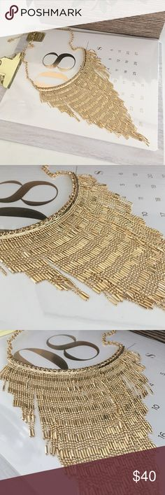 Stunning fringe necklace Fringe gold plated necklace lays so beautiful on the neck, very stunning! Nordstrom Jewelry Necklaces