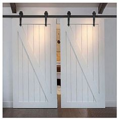 5/6/6.6/7.5/8/8.2/10/12/13/15/16 FT Winsoon Double Arrow Design Sliding Barn Door Hardware Black Rustic Closet Interior Quiet Glide Track Rail Rolling Kit Set Industrial Strength, Easy to Follow Installation Manual Included, 8.2FT