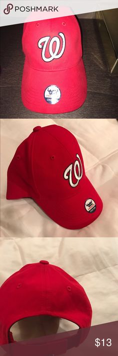 Washington Nationals baseball cap! Worn once! Great condition! Adjustable. Go Nats!♥️ Accessories Hats