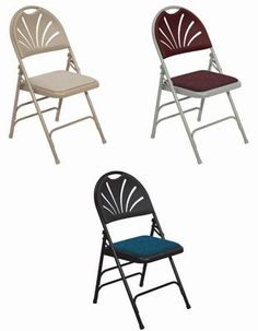 Fan Back Chairs with Padded Seats 1000 Series - Body Builder Deluxe Fabric Padded Fan-Back Folding Chair - Quad Hinged - Triple Cross-Braced - 600 lb Capacity - 10 yr Warranty Get White, Black, Blue, Tan w/Ivory Seat