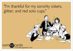 I'm thankful for my sisters ...