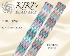 Check out our bead loom patterns selection for the very best in unique or custom, handmade pieces from our shops. Loom Bracelet Patterns, Bead Loom Patterns, Loom Bracelets, Beading Patterns, Loom Beading, Bead Art, Etsy Seller, Unique Jewelry, Beads