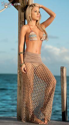 Crochet Net Cover Up Skirt, $35.95 #besexy