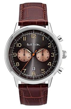 New Arrivals 2017 Mens Top Fashion Brands #Promotions  New In Store Today Paul Smith Men's Quartz Watch with Black Dial Chronograph Display and Brown Leather Strap P10013   #Dontmissout #FashionSale  #Summer #Mensware #TShirts #MensClothing #JustFeatured #UrbanFashion