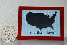 """Nap Time Crafts: """"land that I love"""" frame"""