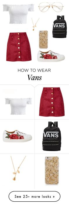 """Rosy Red"" by cjellebrecht on Polyvore featuring Boohoo and Vans"