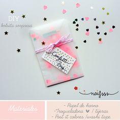 DIY bolsita sorpresa confetti / corazones/washi tape- tutorial naif sss