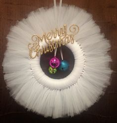 Christmas and Holiday Tulle Wreath by KaleAndCo on Etsy, $30.00