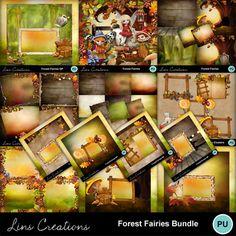 Digital Scrapbooking Kits | Forest fairies bundle-(LinsCre) | Family, Fantasy, Nature, Outdoors, Seasons - Autumn | MyMemories