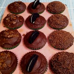 Dime , Oreo and sprinkle chocolate cupcakes
