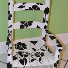 Hand-painted Rocking Chair