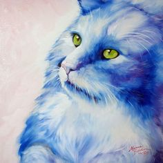 """Blue Kitty Dream"" par Marcia Baldwin"