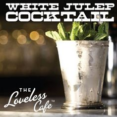 White Julep Cocktail made with Tennessee Moonshine