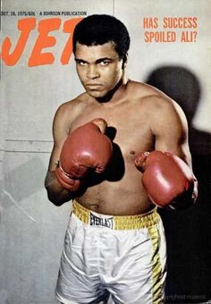 Muhammad Ali on the cover of Jetmagazine, October 1975.