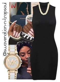 """Need a Girl"" by swavenation-n-trapsoul ❤ liked on Polyvore featuring MICHAEL Michael Kors, Converse, Michael Kors and Charlotte Russe"