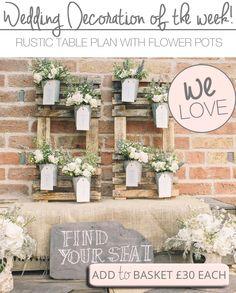 Rustic Wedding Table Plans