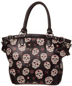 MESMERIZE BAG Purse Skulls GOTHIC ALTERNATIVE PURSE by Banned Apparel. Plus earn…