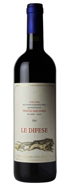 Tenuta San Guido - Le Difese, red wine from Mash Bredgade Best Italian Wines, Wine Cheese, Toscana, Wine Rack, Red Wine, Alcoholic Drinks, San, Label Design, Bottle