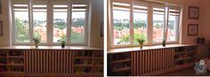 Výsledek obrázku pro kryt na topení s knihovnou kolem okna Windows, Ramen, Window