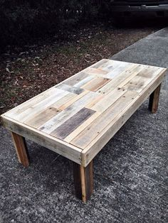 Pallet Project - Coffee Table Made From Pallet Wood