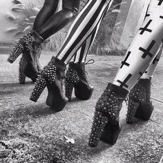 I would kill for black leather spiked Litas.