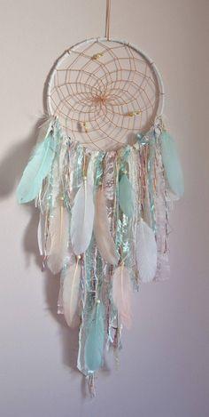 Boho Nursery Dream Catcher Decor Feather Lace Dream Catcher