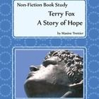 """This book study for the non-fiction biography """"Terry Fox, A Story of Hope"""" by Maxine Trottier. There are two editions of this book and Non Fiction, 5th Grade Reading, Teaching Language Arts, Comprehension Questions, Book Study, Children's Literature, Writing Activities, Critical Thinking, Nonfiction Books"""