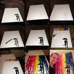 Canvas crayon art