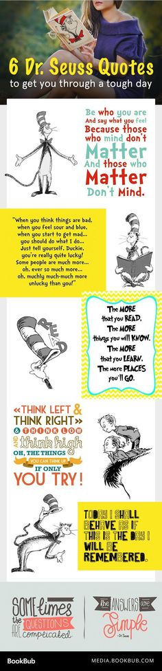 Inspirational Dr. Seuss quotes for kids, teachers, and all fans! | Book quotes | Quotes by Dr. Seuss | Uplifting quotes from books