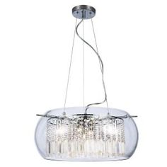 Home Decorators Collection Baxendale 5-Light Crystal and Chrome Chandelier 142330HDC-15 at The Home Depot - Mobile