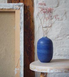 Unika bottle in blue glaze.  Available in our store, but I doubt for long!  @tortus_copenhagen  #bottle #vase #glaze #blue #kinfolk #elledecor #bobedre #rumid