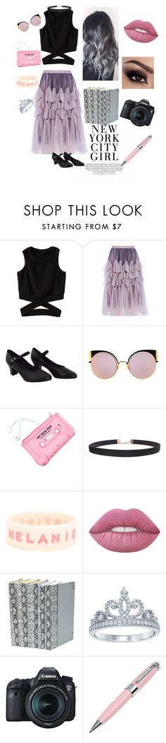 """""""Untitled #12"""" by cortneyclassy ❤ liked on Polyvore featuring Dries Van Noten, Fendi, Lazy Oaf, Humble Chic, Lime Crime, Disney, Eos and ICE London"""