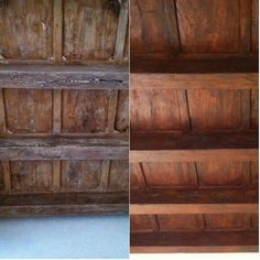 Before and after.  Different beauties. #before #after #different #beauties #beauty #wood #antique #antiques #ancient #antiquewood #changes #restoration #wunderkammer #arsenalepiu