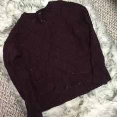 Dark Maroon Sweater Good condition, slightest bit of pilling on sleeves Dex Sweaters Crew & Scoop Necks