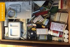 Before & After: How I Transformed My Junk Drawer Without Buying a Single Organizer — Kitchen Organization So smart.