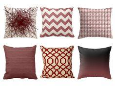 Marsala Pillows   #2015ColoroftheYear   #Marsala   Home decor   SampleHouse