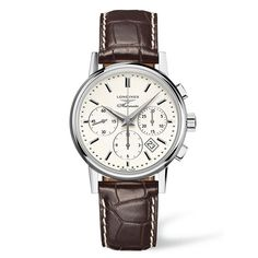 Longines Heritage white dial watch