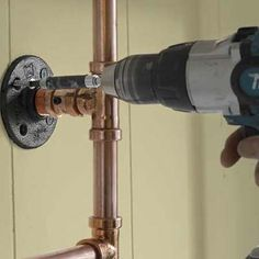Photo: Anthony Tieuli and David Carmack | thisoldhouse.com | from How to Make a Pot Rack from Copper Pipe