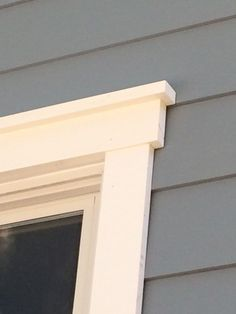 Image result for decorative window trim with lap siding