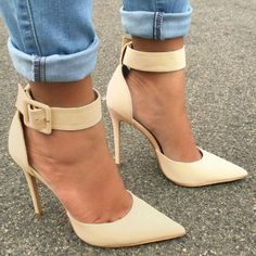 Ankle Strap Pointed Heels