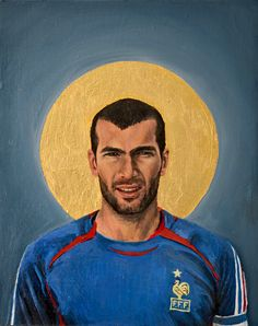 Football Icon - Zinedine Zidane by David Diehl as Poster Art Football, God Of Football, France Football, Soccer Art, Legends Football, Football Icon, World Football, Football Players, Zinedine Zidane