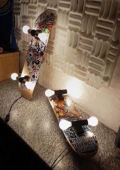 Die Skateboardlampe, kann entweder über die Steckdose als Wandleuchte oder als Deckenlampe über Phase, Null- und Schutzleiter betrieben werden. Befestigt wird die Leuchte über eine Halterung, die mit 4 Schrauben und Dübeln (im Lieferumfang enthalten) an Wand oder Decke geschraubt wird.