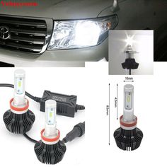 Philips Headlight Bulbs | Compare Prices New Pair H11 8000Lm For Philips Lumiled ZES Chip 80W LED Bulbs for Toyota LandCruiser 200 low beam headlights Fog #Philips #Headlight #Bulbs #Compare #Prices #Pair #Lumiled #Chip #Toyota #LandCruiser #beam #headlights