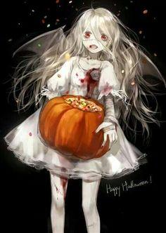 Happy Halloween by cotta Ange Anime, Anime Angel, Anime Art, Animé Halloween, Really Cool Drawings, Fantasias Halloween, Anime Group, Fanart, Dark Anime