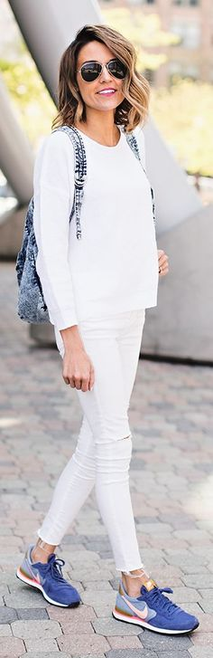 Girly Sneakers Outfit Idea by Hello Fashion