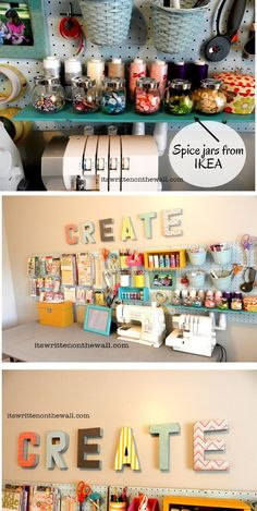 It's Written on the Wall: Craft Room Organizing Ideas-How to Use That Blank Wall to Organize!