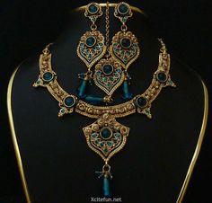 262725,xcitefun-indian-jewelry-polki-necklace-set-with-m.jpg (800×767)
